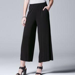 SimplyVera Vera Wang Jersey Wide -Leg Pants